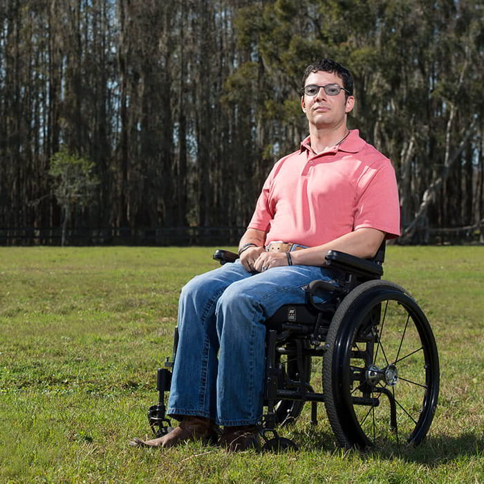 Wounded Warrior in a Wheelchair