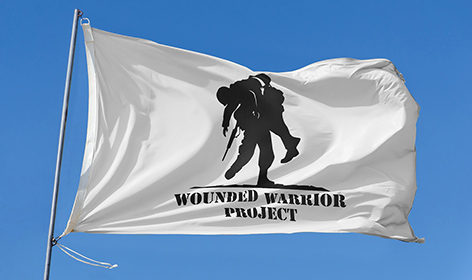 Wounded Warrior Project Garden Flag