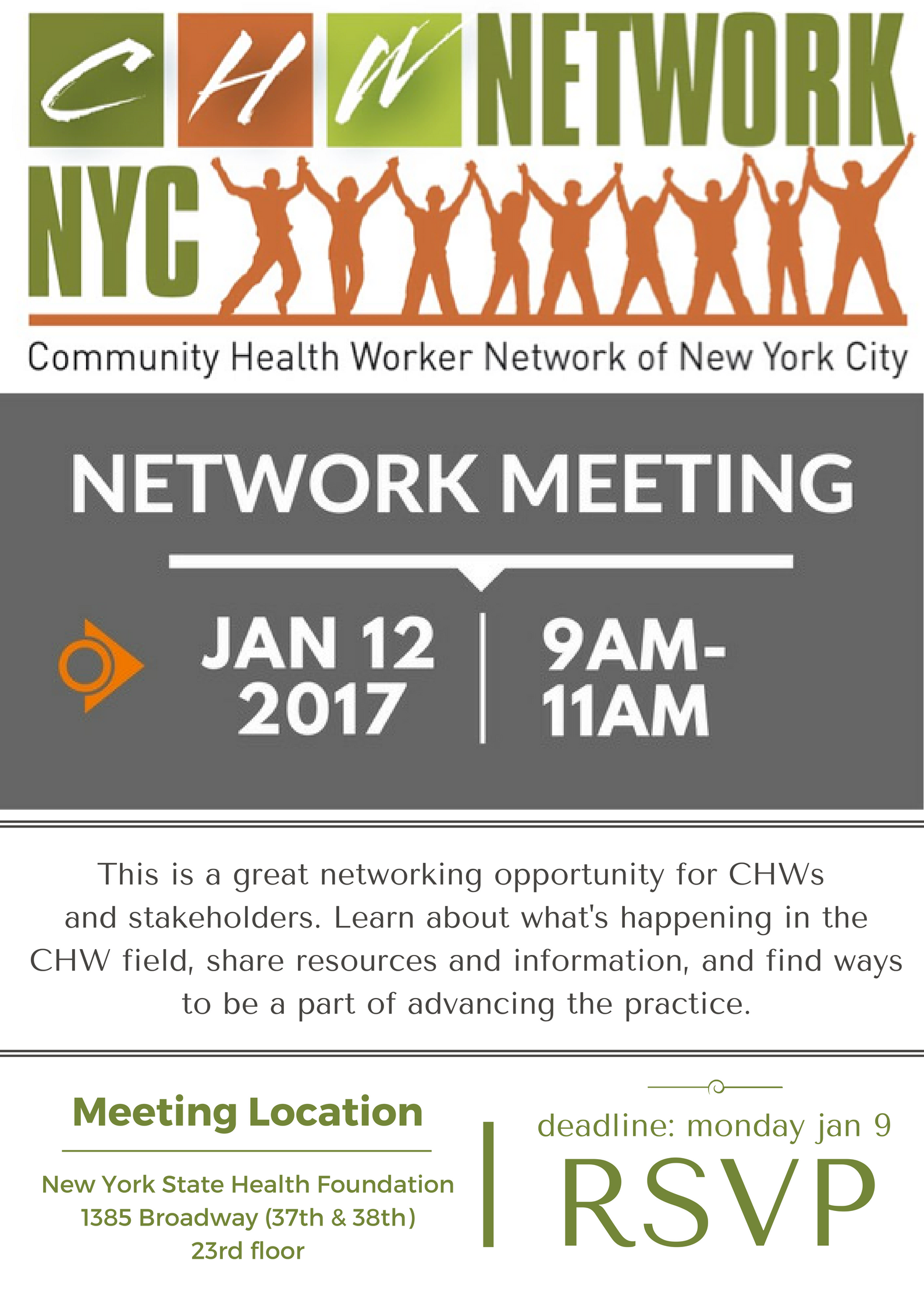 network meeting jan 2017