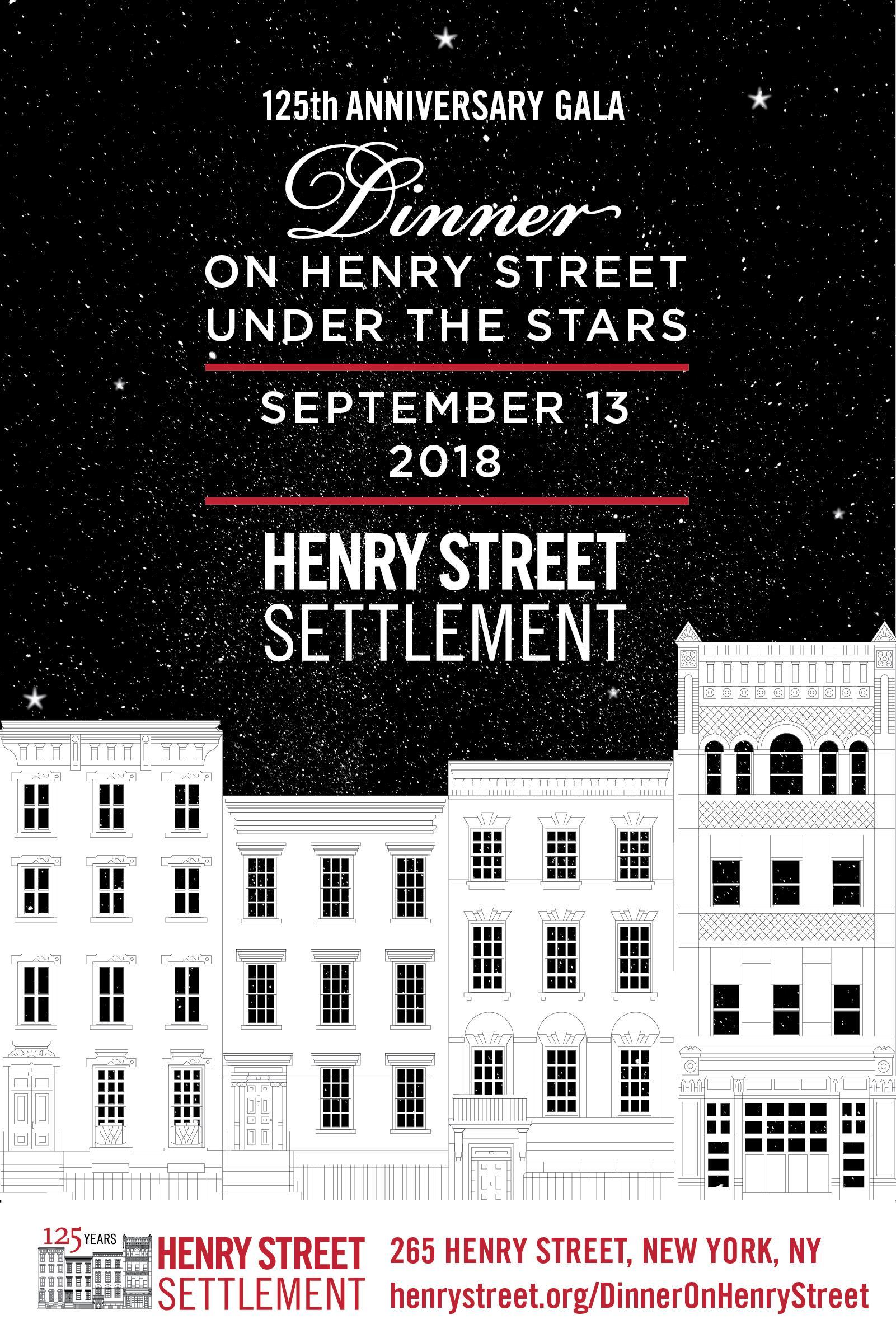 Henry Street Settlement 125th Anniversary Gala