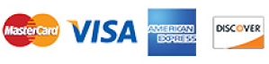 credit card types accepted: mastercard, visa, american express, discover