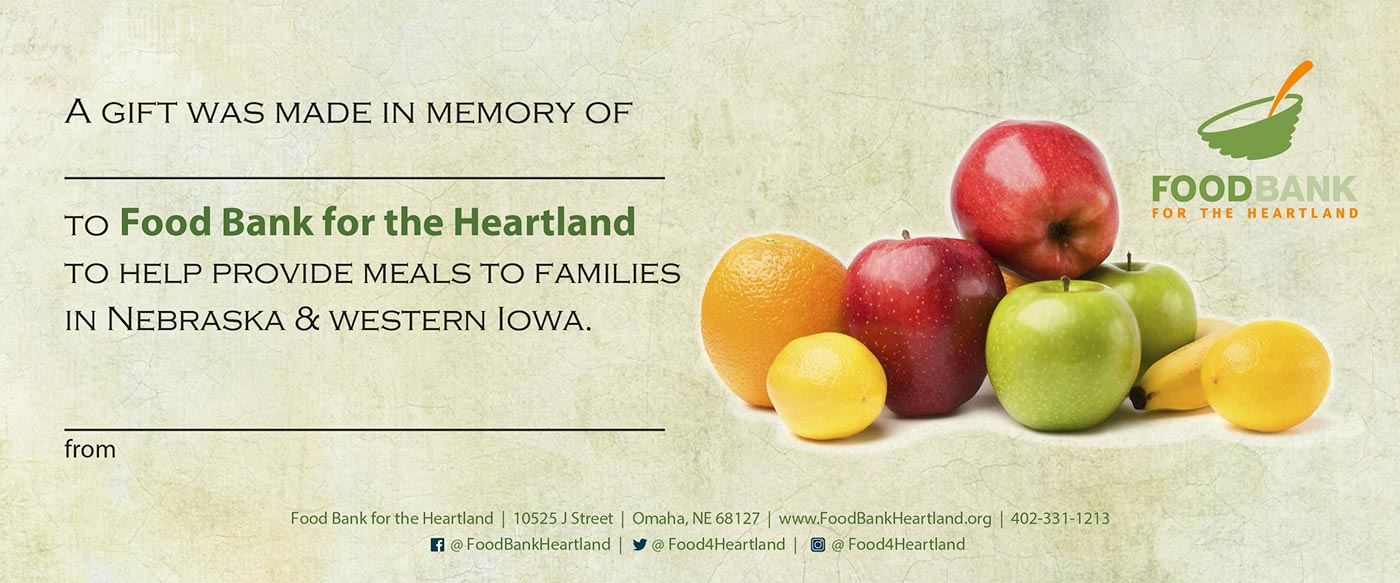 Donate Funds Food Bank for the Heartland