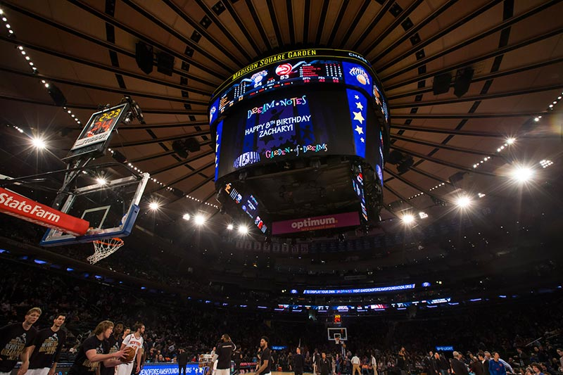 ... The Fans, To Have Your Own Personal Messages Displayed On GardenVision  During Halftime At A 2017 2018 Knicks Game At Madison Square Garden.
