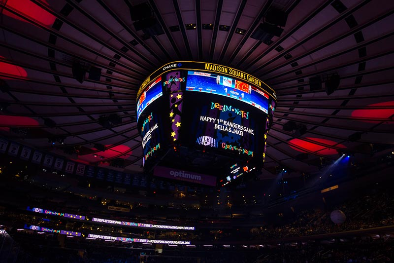 The New York Rangers Invite You Fans To Have Your Own Personal Messages Displayed On GardenVision During A 2018 2019 Game